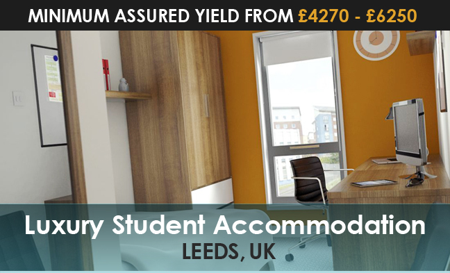 Luxury student accommodation in Leeds, UK - Minimum assured yield from ?4270 - ?6250